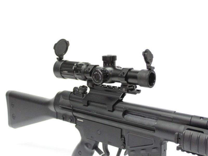 Aimsports Aimsports Raptor 1-4X24 Rangefinding Reticle red/green Scope with Rings