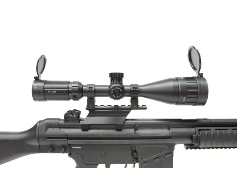 Aimsports Raptor 3-12X50mm AO target scope with
