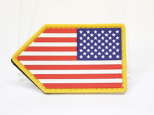 Mil-Spec Monkey US Flag Vertical Shield PVC