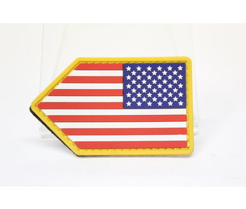 US Flag Vertical Shield PVC