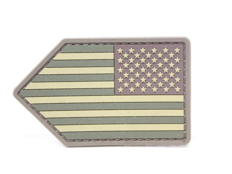 Mil-Spec Monkey US Flag Vertical Shield PVC