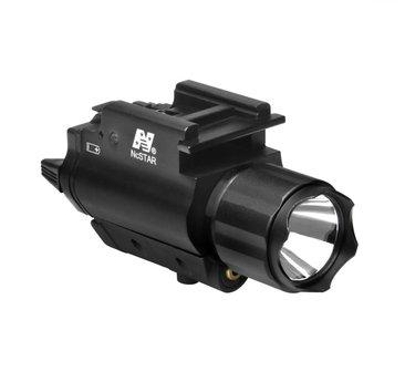 NcStar NC Star 3W 120 Lumen FlashLight & Red Laser QD Mount