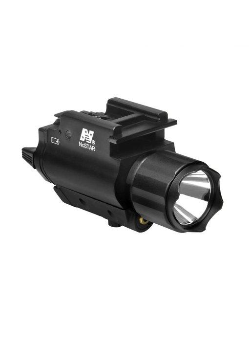 NC Star 3W 120 Lumen FlashLight & Red Laser QD Mount