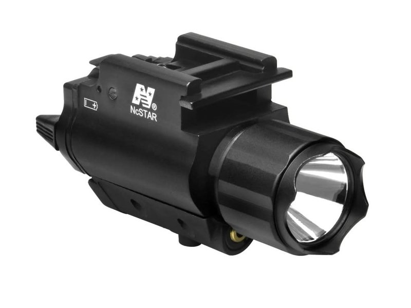 NcStar NC Star 3W 120 Lumen FlashLight & Red Laser QD Mount
