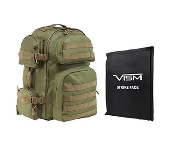 "NC Star VISM Tactical Backpack w/ 10""X12"" IIIA Soft Panel"