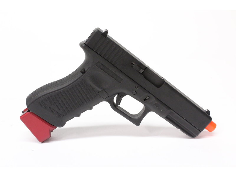 Pro-Arms Elite Force Glock H-type aluminum magazine baseplate, red