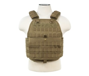NC Star VISM Plate Carrier Vest Medium-2XL Tan
