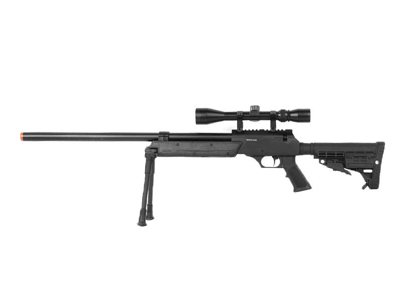 Well WELL MB13 APS SR2 Rifle with Scope and Bipod Black