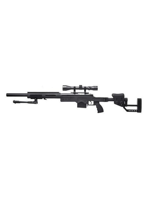 Well MB4410 M24 Rifle w/ Scope+Bipod Black