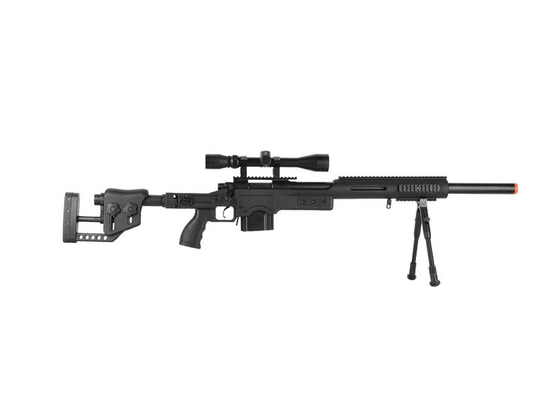 Well Well MB4410 M24 Rifle w/ Scope+Bipod Black