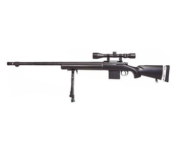 Well MB4405 M24 Rifle w/ Scope+Bipod Black