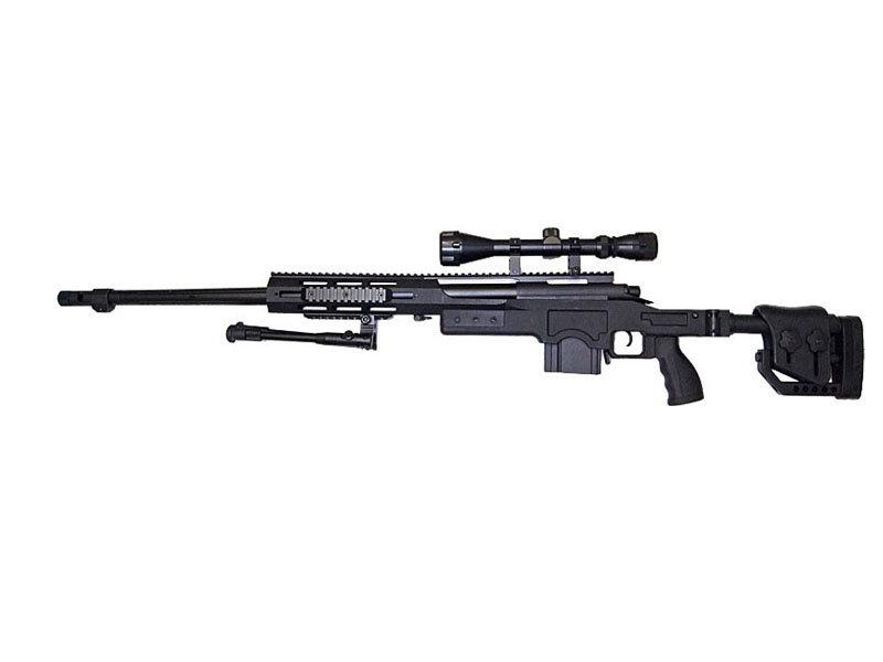 Well WELL MB4411 M24 Mono w/ Scope+Bipod Black