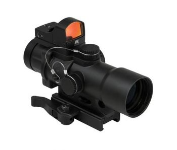 NC Star 3.5X32mm illuminated prismatic scope with micro red dot sight