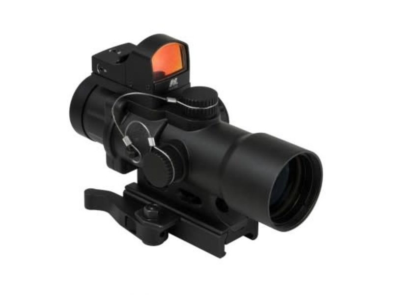 NC Star NC Star Compact Prismatic 3.5x32mm Illuminated Scope with Red Dot Sight