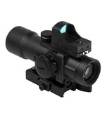 NC Star NC Star 3.5X32mm illuminated prismatic scope with micro red dot sight