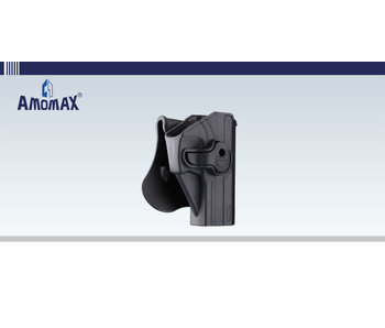 Amomax Hardshell Holster, USP and USP Compact, Black, RH