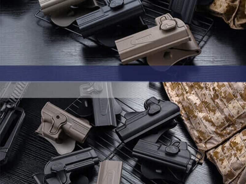 Amomax Amomax Hardshell Holster, USP and USP Compact, Black, RH