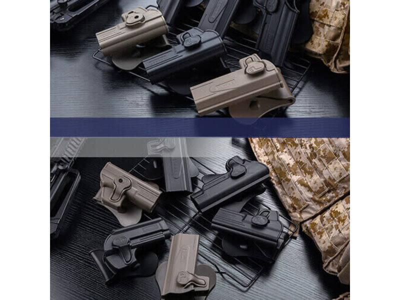 Amomax Amomax Hard Shell Holster, Glock TM/KJW/WE/EF Right Hand Black