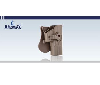 Amomax Hardshell Holster, Glock (TM/KJ/WE/EF), FDE, RH