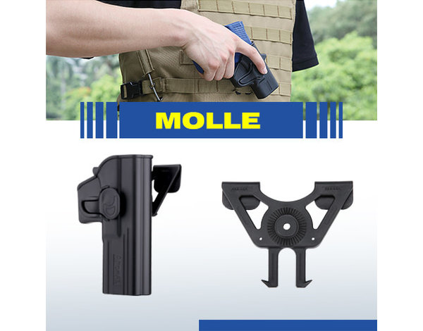 Amomax Molle holster adapter for Amomax/Cytac/Strike Systems holsters. Flat Dark Earth.