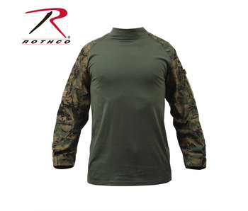 Rothco Combat Shirt, Woodland Digital