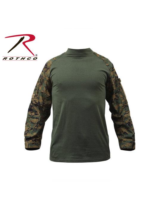 Rothco Combat Shirt, Woodland Digital