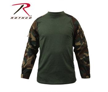 Rothco Combat Shirt, Woodland