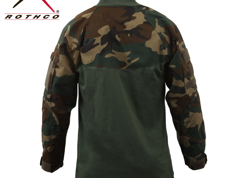 Rothco Rothco Combat Shirt, Woodland