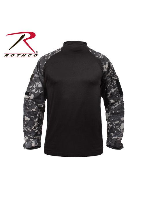 Rothco Combat Shirt, Subdued Urban Digital Camo