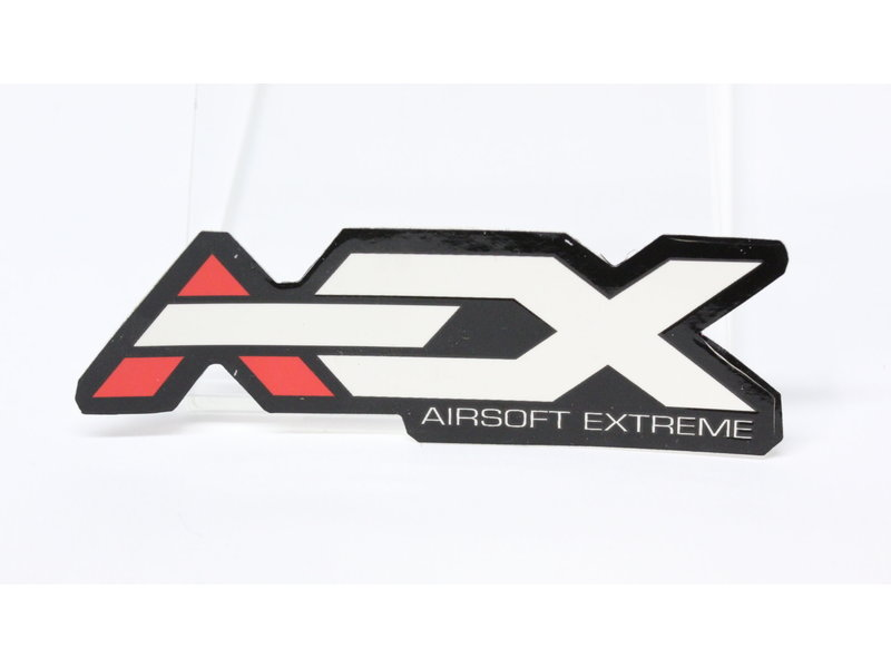 Airsoft Extreme AEX Sticker 4'' Black