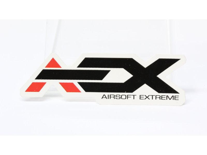 Airsoft Extreme AEX Sticker 4'' White