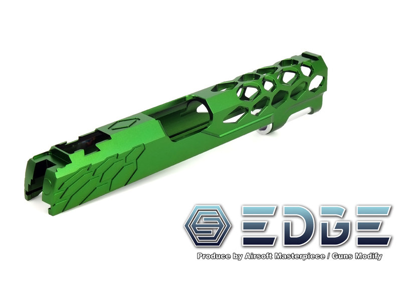 Airsoft Masterpiece AM EDGE SHIELD Standard HiCapa Slide GREEN