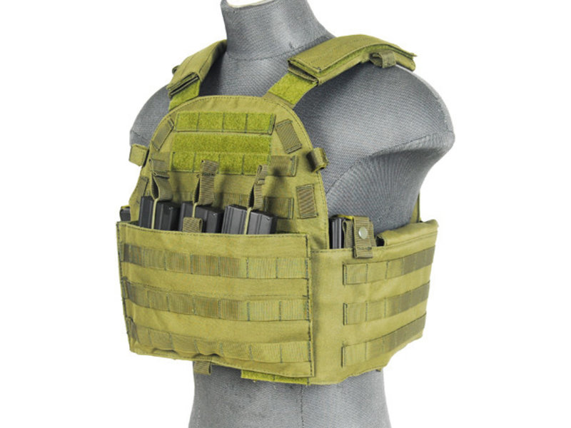 Lancer Tactical Lancer Tactical 69T4 Plate Carrier w/ Triple M4 Magazine Pouch