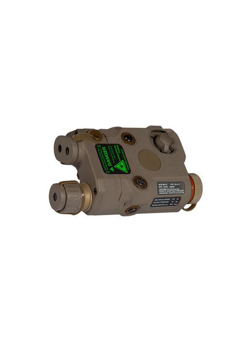 UKARMS AN/PEQ15 LED/IR w/ Green Laser DE