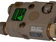 UK Arms UKARMS AN/PEQ15 LED/IR w/ Green Laser DE