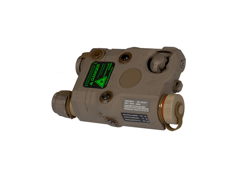 UK Arms UKARMS AN/PEQ15 LED/IR w/ Green Laser DE