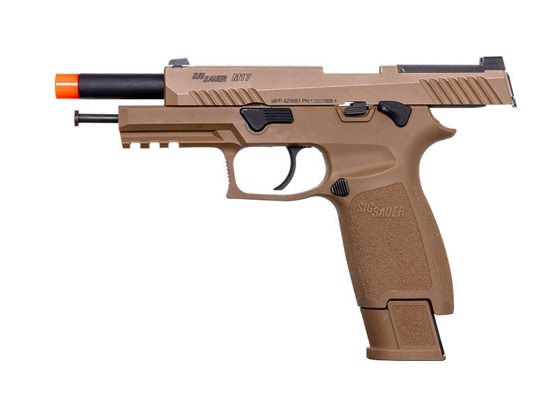 Proforce SIG Sauer Proforce Series M17 Gas Blowback Pistol with CO2 Magazine Coyote Tan