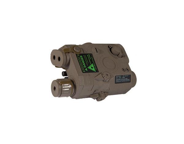 Lancer Tactical Lancer Tactical PEQ15 Green Laser LA-5 Case Dark Earth