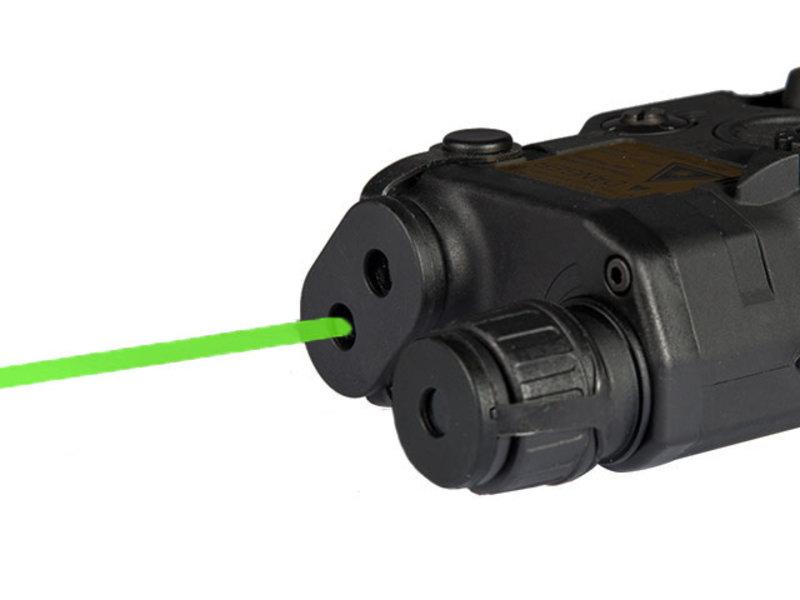 UK Arms UKARMS AN/PEQ15 LA5 LED/IR Green Laser BLK