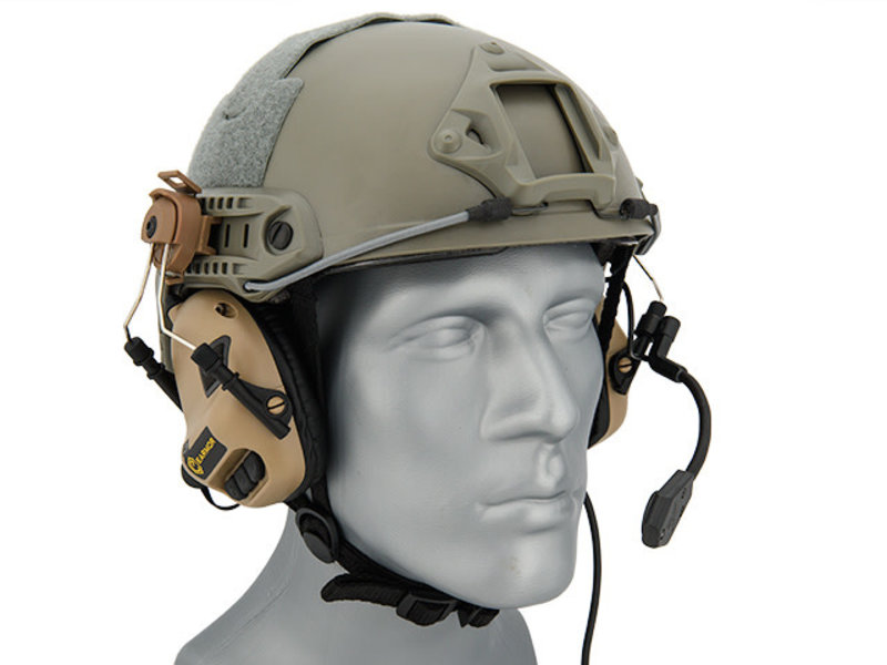 UK Arms UKARMS Earmor M32H Helmet Electric Earmuffs Tan