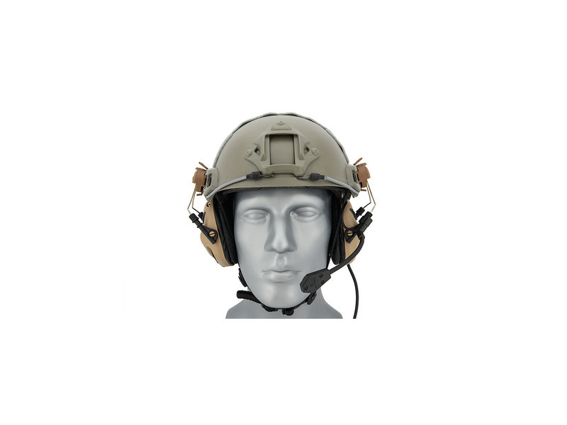 UK Arms UKARMS Earmor M32H Helmet Electric Earmuffs Tan