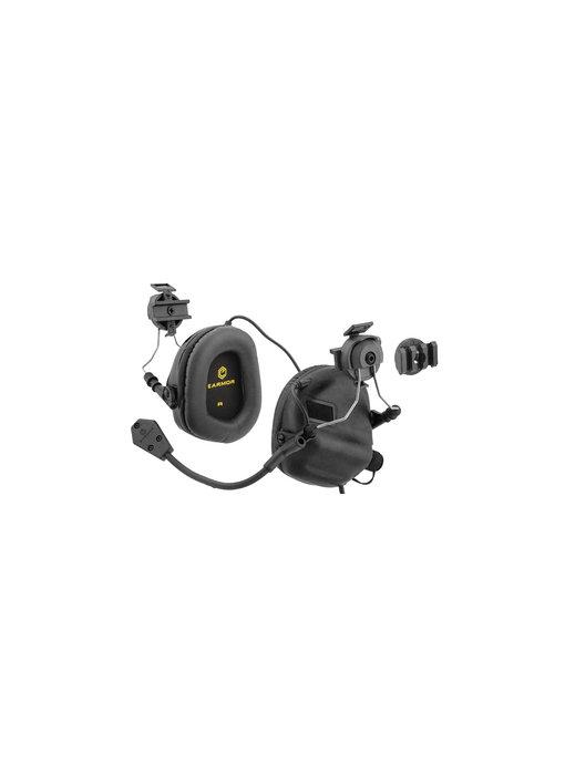 UKARMS Earmor M32H Helmet Electric Earmuffs Black