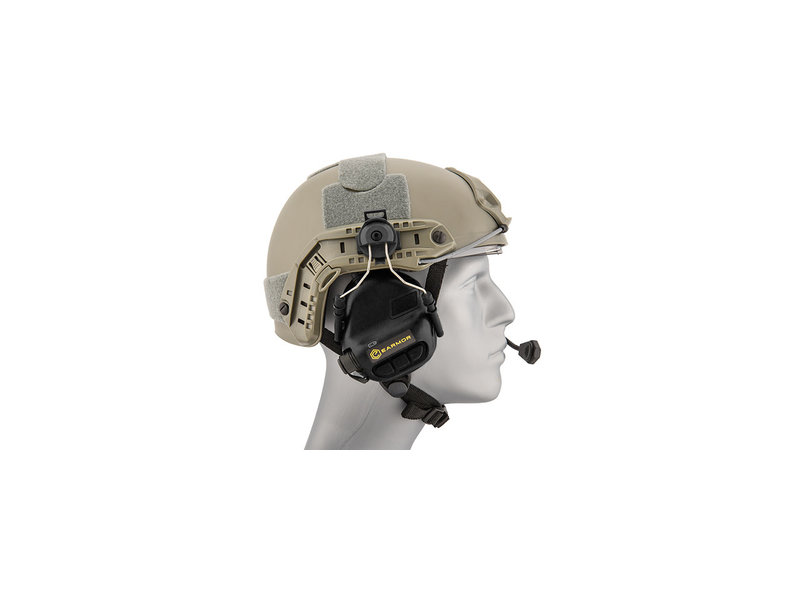 UK Arms UKARMS Earmor M32H Helmet Electric Earmuffs Black