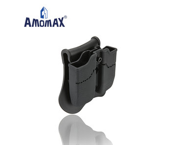 Amomax Hardshell Dbl Mag Pouch 1911 Single Stack Mag, Blk