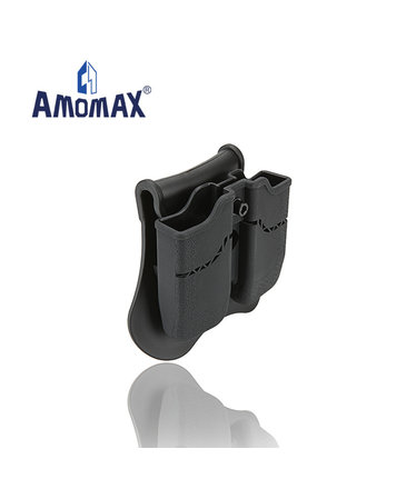 Amomax Amomax Hardshell Dbl Mag Pouch 1911 Single Stack Mag, Blk