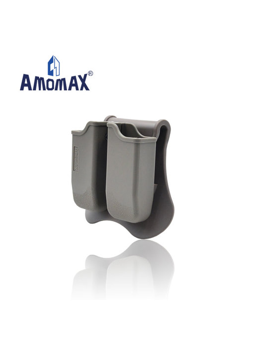 Amomax hardshell double magazine pouch for 1911 single stack magazines, flat dark earth