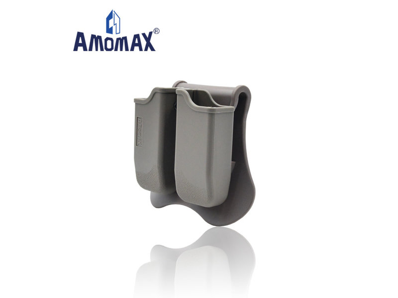 Amomax Amomax hardshell double magazine pouch for 1911 single stack magazines, flat dark earth
