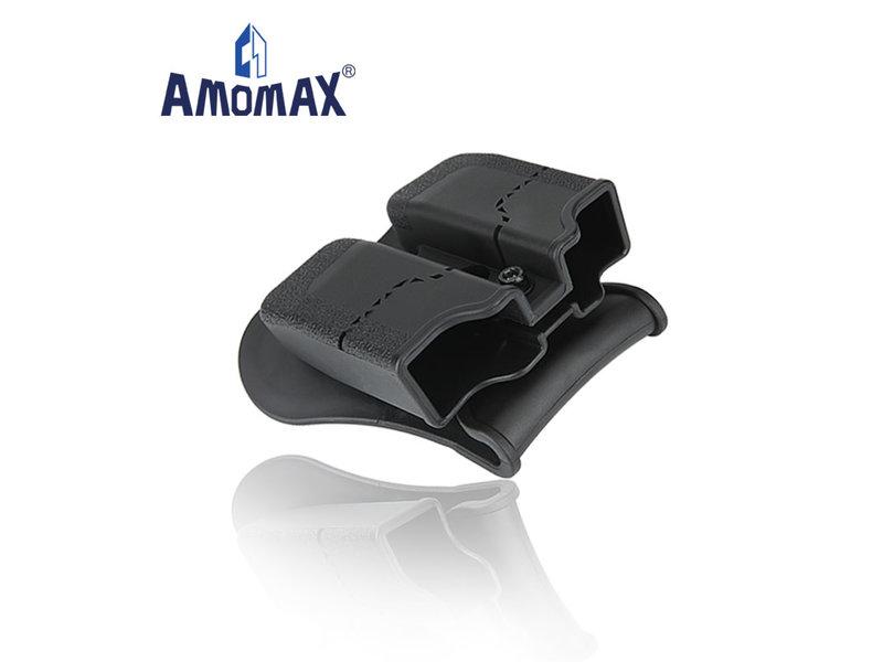 Amomax Amomax hardshell double magazine pouch for 9mm magazines, black