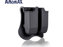 Amomax Amomax Hardshell Dbl Mag Pouch Glock Mag, Blk