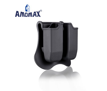 Amomax Hardshell Dbl Mag Pouch Glock Mag, Blk